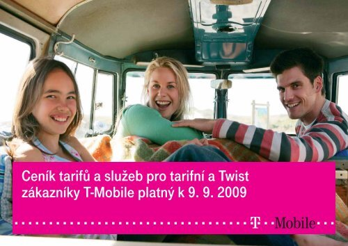 Ceník služeb T-Mobile - 2009 záříCeník tarifů a služeb pro tarifní a ...