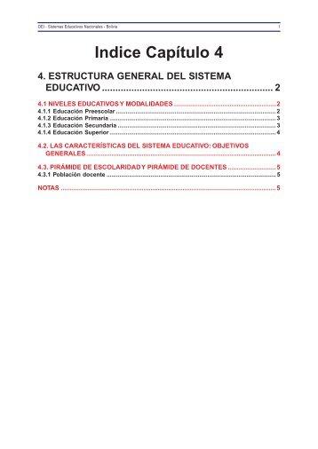 4. Estructura General del Sistema Educativo - OEI
