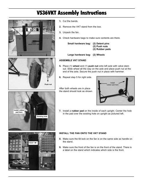 Versa-Kool Tiltable Spot Cooler Instructions - Schaefer Ventilation