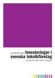 Sammanfattning av rapporten - Teknikföretagen