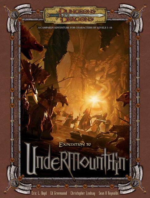 Adventure - Expedition to Undermountain pdf - Lski org