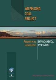 wilpinjong coal project wilpinjong coal project - Department of ...