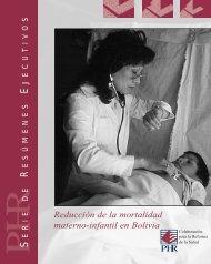Reducción de la mortalidad materno-infantil en Bolivia - PHRplus