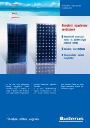 Fűtésben otthon vagyunk Komplett napelemes rendszerek