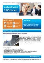 Aktualności nr 12 (PDF, 721 KB) - Citibank Handlowy