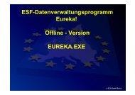ESF-Datenverwaltungsprogramm Eureka! Offline - ECG GmbH Berlin