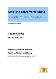 Amtliche Lehrerfortbildung - Regierungspräsidium Freiburg