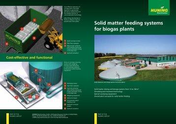 Solid matter feeding systems for biogas plants - Huning Maschinenbau