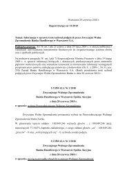Raport bieżący nr 15/2010 - Citibank Handlowy