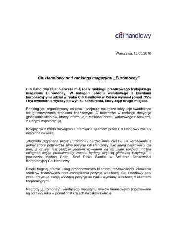Wersja PDF (46 KB) - Citibank Handlowy