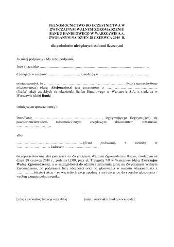 wersja PDF - Citibank Handlowy