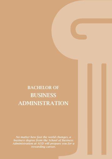 BUSINESS ADMINISTRATION - American University in Dubai
