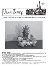 Oktober 2007 - Auenkirche Berlin-Wilmersdorf