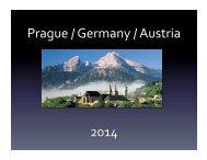 Prague / Germany / Austria 2014 - the Stowe School District