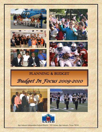 Budget In Focus 2009-2010 - San Antonio Independent School District