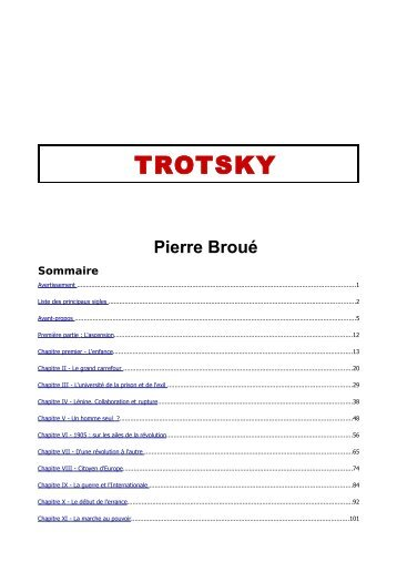 TROTSKY - Marxists Internet Archive