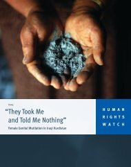 """""""They Took Me and Told Me Nothing"""" - Human Rights Watch"""