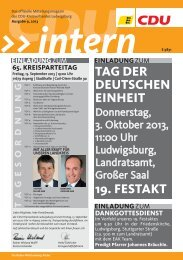 CDU Intern Ausgabe September 2012 - CDU Kreisverband ...