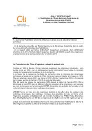 ensci_limoges_avis_2010 - Commission des Titres d'Ingénieur