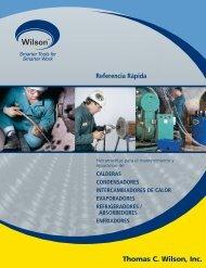 Herramientas para Limpieza de Tubería - Thomas C. Wilson