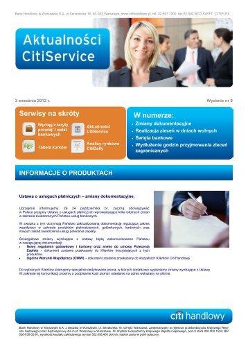 Aktualności nr 9 (PDF, 683 KB) - Citibank Handlowy