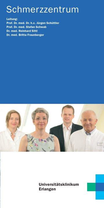 Informationsbroschüre - Schmerzzentrum - Universitätsklinikum ...