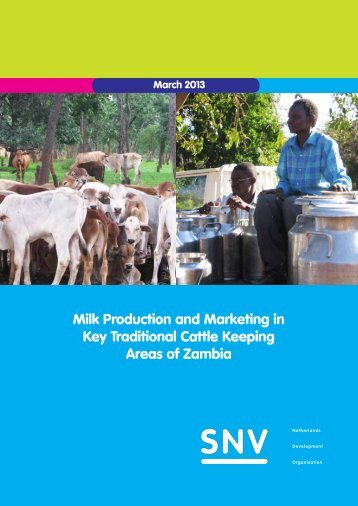 Milk Production and Marketing in Key Traditional Cattle ... - SNV