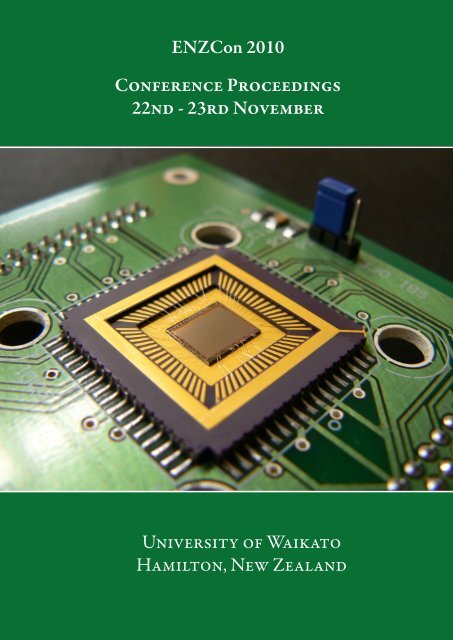 Proceedings of Electronics New Zealand Conference 2010 - ENZCon
