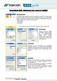 Kurzanleitung 0905 Kurzanleitung 0905 - Datenimport und ...