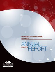 REPORT ANNUAL - Red Rocks Community College