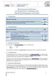 Diplom Soziologie - Fakultät für Betriebswirtschaft