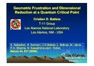 Dimensional Reduction at a Quantum Critical Point