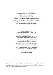 Promotionsordnung der Fakultät für Volkswirtschaft