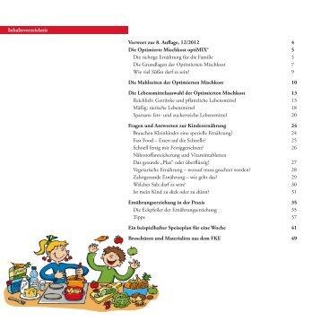 Vorwort zur 8. Auflage, 12/2012 4 Die Optimierte Mischkost ... - FKE