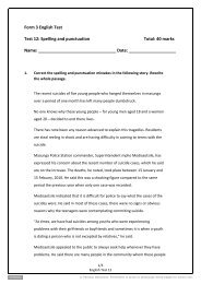 Form 3 English Test Test 12: Spelling and punctuation ... - Pearson