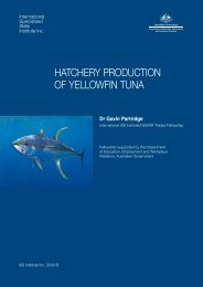 hatchery production of yellowfin tuna - International Specialised ...