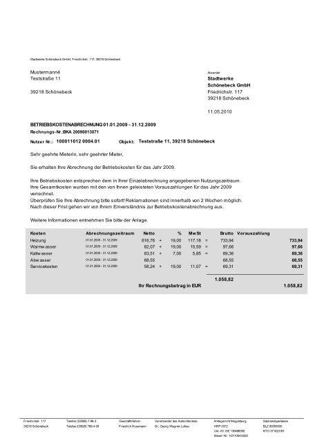 Mieter Nebenkostenabrechnung Online Selbst Erstellen Hveasy 7