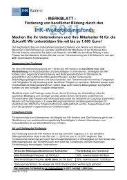 MERKBLATT - Förderung von beruflicher Bildung ... - X-Learning