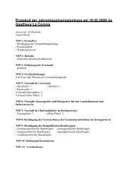 Protokoll der Jahreshauptversammlung am 18.02.2009 im Gasthaus ...
