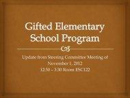 GESP Steering Committee Report