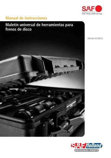 Manual de instrucciones Maletín universal de ... - saf-holland