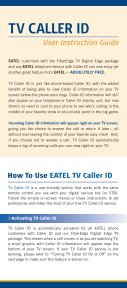 TV Caller ID User Instruction Guide - EATEL.com - Page 2