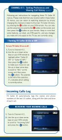 TV Caller ID User Instruction Guide - EATEL.com - Page 4