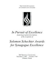 2007 - United Synagogue of Conservative Judaism
