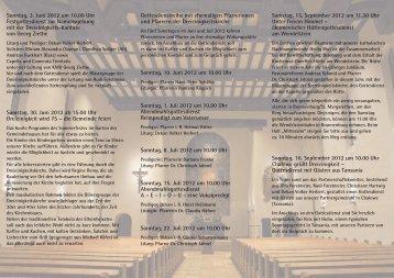 Sonntag, 3. Juni 2012 um 10.00 Uhr Festgottesdienst zur ...