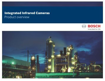 Integrated Infrared Cameras - Bosch Security Systems