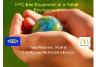 HFC-free Equipment in a Retail Environment