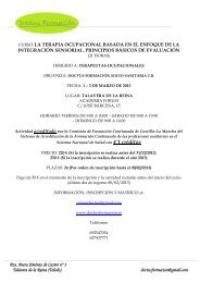 Información curso Integración Sensorial 2013.pdf - Fisaude