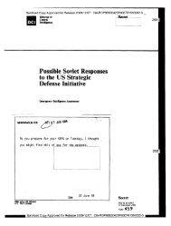 Possible Soviet Responses to the US Strategic Defense ... - CIA FOIA