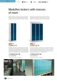 Moduflex lockers with masses of room